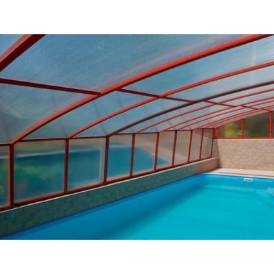 Павильон для бассейна Dallas с опорой на стену