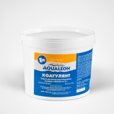 Коагулянт (картриджи по 5 таблеток 25 г) 4 кг