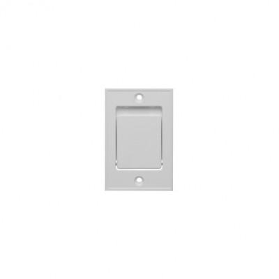 11250 Пневморозетка S-klasse напольная метал белая