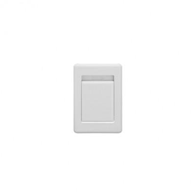 14432 Пневморозетка S-klasse Flat пластик белая