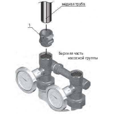 Цанговое соединение для подключения контура