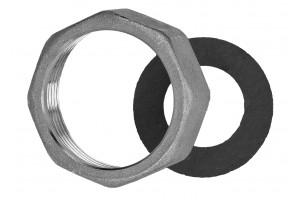 Накидная гайка в комплекте с уплотнением для подключения циркуляционных насосов DN25 / DN32