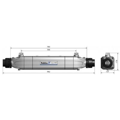Теплообменник Aqua-Mex AM-100, 100 кВт, спираль сталь 316L