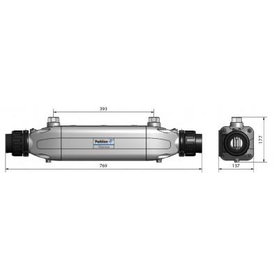 Теплообменник Aqua-Mex AM-40T, 40 кВт, спираль TITANIUM