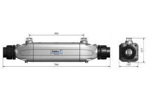 Теплообменник Aqua-Mex AM-70, 70 кВт, спираль сталь 316L
