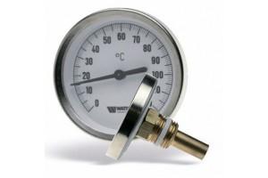 Термометр F+R801 SD (TAS) биметаллический аксиальный с погружной гильзой и уплотнением на штоке